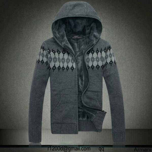 Homme Pull Capuche Emporio A Armani W8nzxxtqy6 Laine OikZuPX
